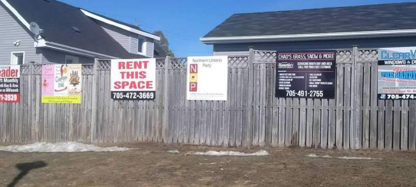 New NOP Yard Signs in North Bay